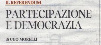Articolo di Ugu Morelli, Corriere del Trentino - 23 dic 2011