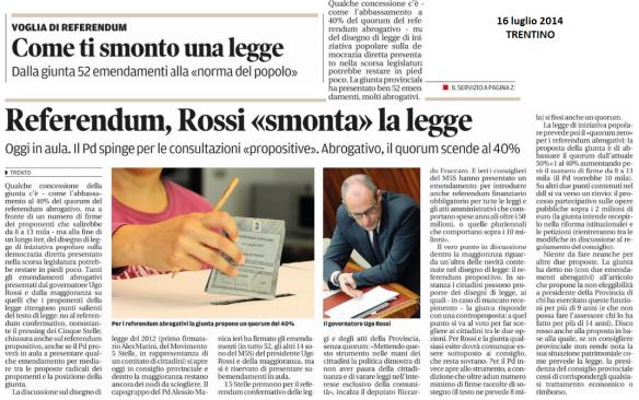 140716 Trentino Referendum, come ti smonto una legge
