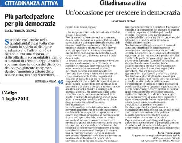 2014 07 01 Adige Cittadinanza attiva (L. F. Crepaz)