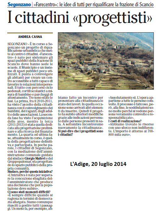 2014 07 20 Adige Cittadini progettisti (Segonzano)