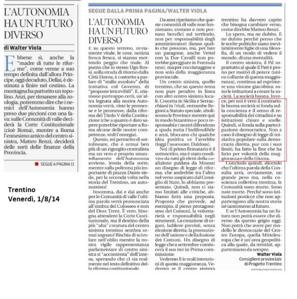 2014 08 01 Trentino L'Autonomia ha un futuro diverso (Viola)