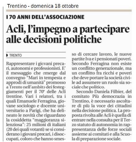 2015 10 18 Trentino ACLI SPS APDT nella consulta