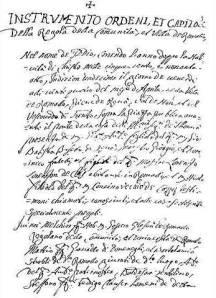 Carta di regola di Fiavè