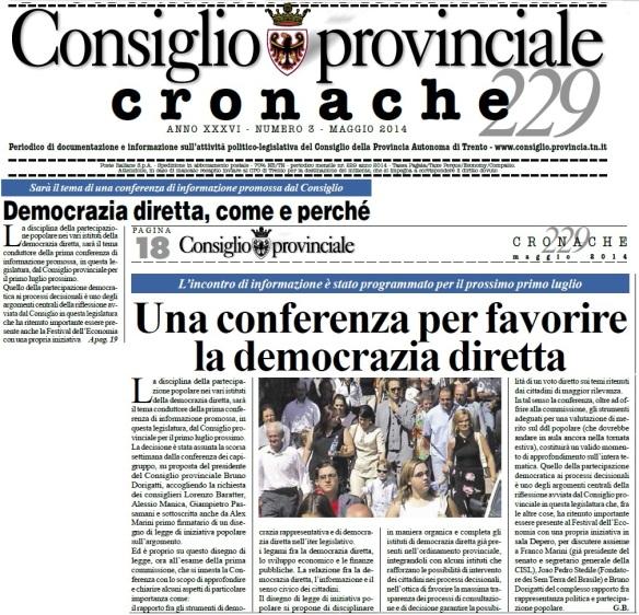 Conferenza di informazione_Cronache consiglio provinciale