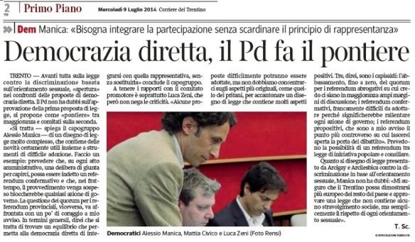 corriere 9 luglio_PD pontiere