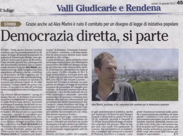 di Fabrizio Torchio, L'Adige