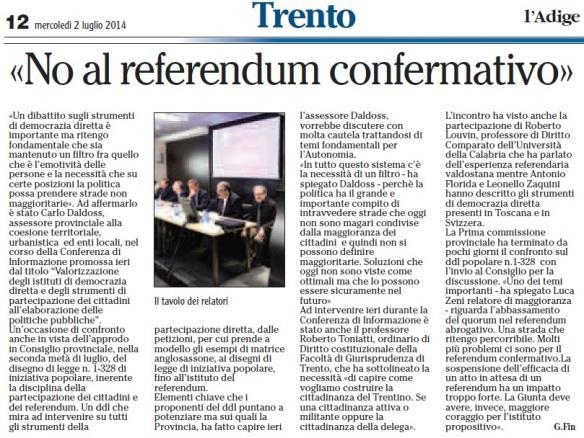 L Adige_Fin_no referendum confermativo