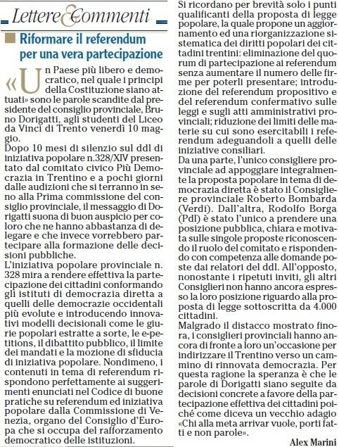 L'Adige 16mag13