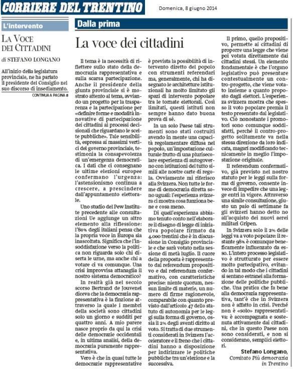 lettera stefano_corriere del trentino