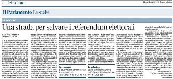 una strada per salvare referendum elettorali