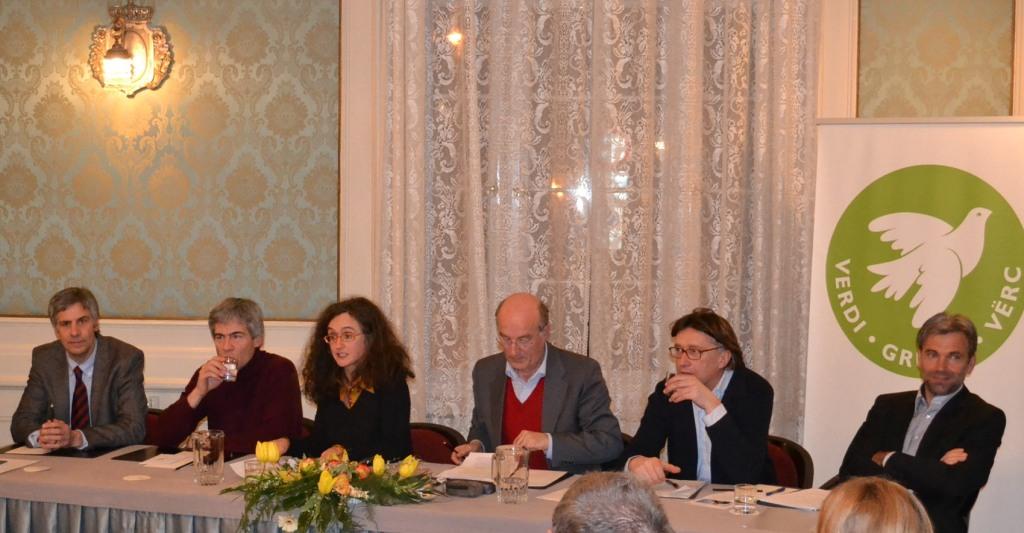 Da sinistra: Häfner - Lausch - Foppa - Kusstatscher - Dello Sbarba - Schuler. Foto by Andreas Pichler