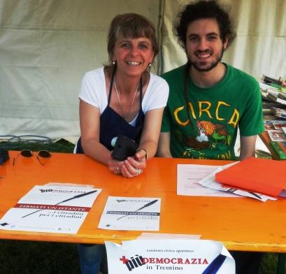 Festa PD a Martignano: Daniela con Anansi