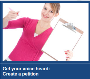 get your voice heard_create a petition