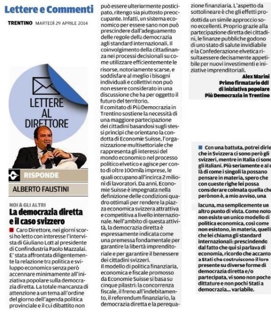 Democrazia diretta su Trentino