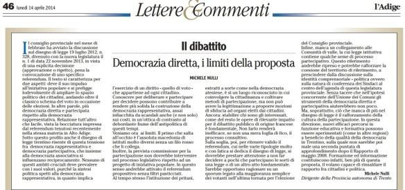Lettera Michele Nulli