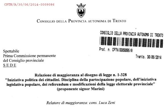 Relazione di maggioranza_Luca Zeni