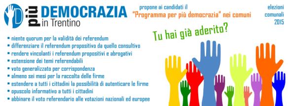 manifesto per piu democrazia nei comuni