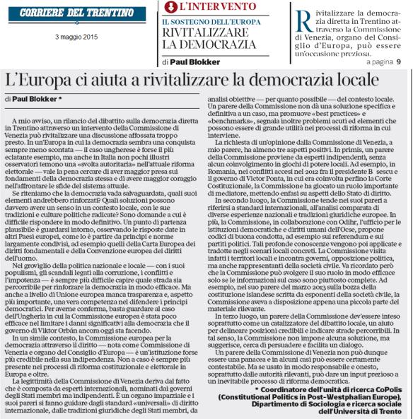 20150503_interveto Blokker_rivitalizzare la democrazia