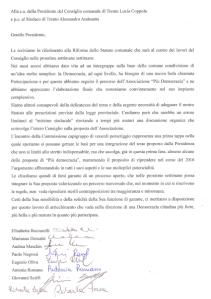20151023_lettera integruppo a Coppola e Andreatta