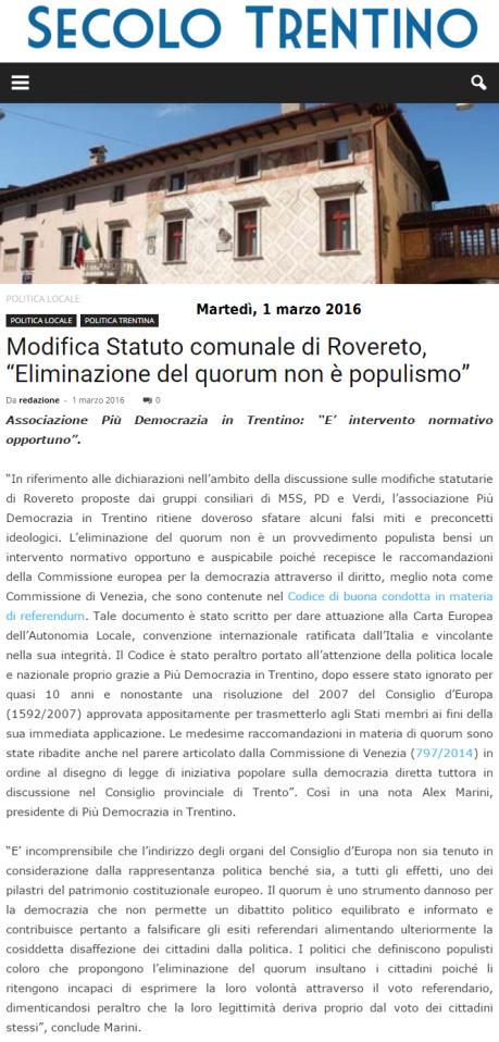 20160302_SecoloTrentino_statuto Rovereto
