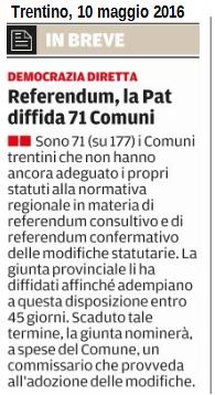 20160507 Trentino PATT diffida 71 Comuni