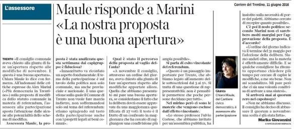 20160611 CdT Democrazia diretta, Maule risponde a Marini