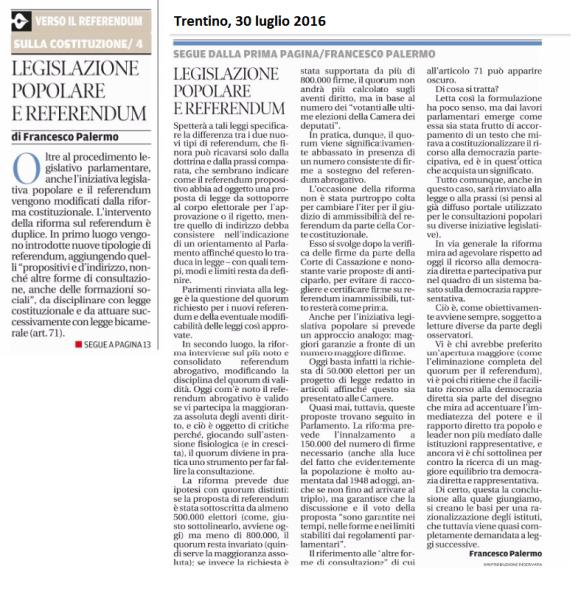 20160730_ Trentino Legislazione popolare e Referendum