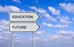 Road sign to education and future